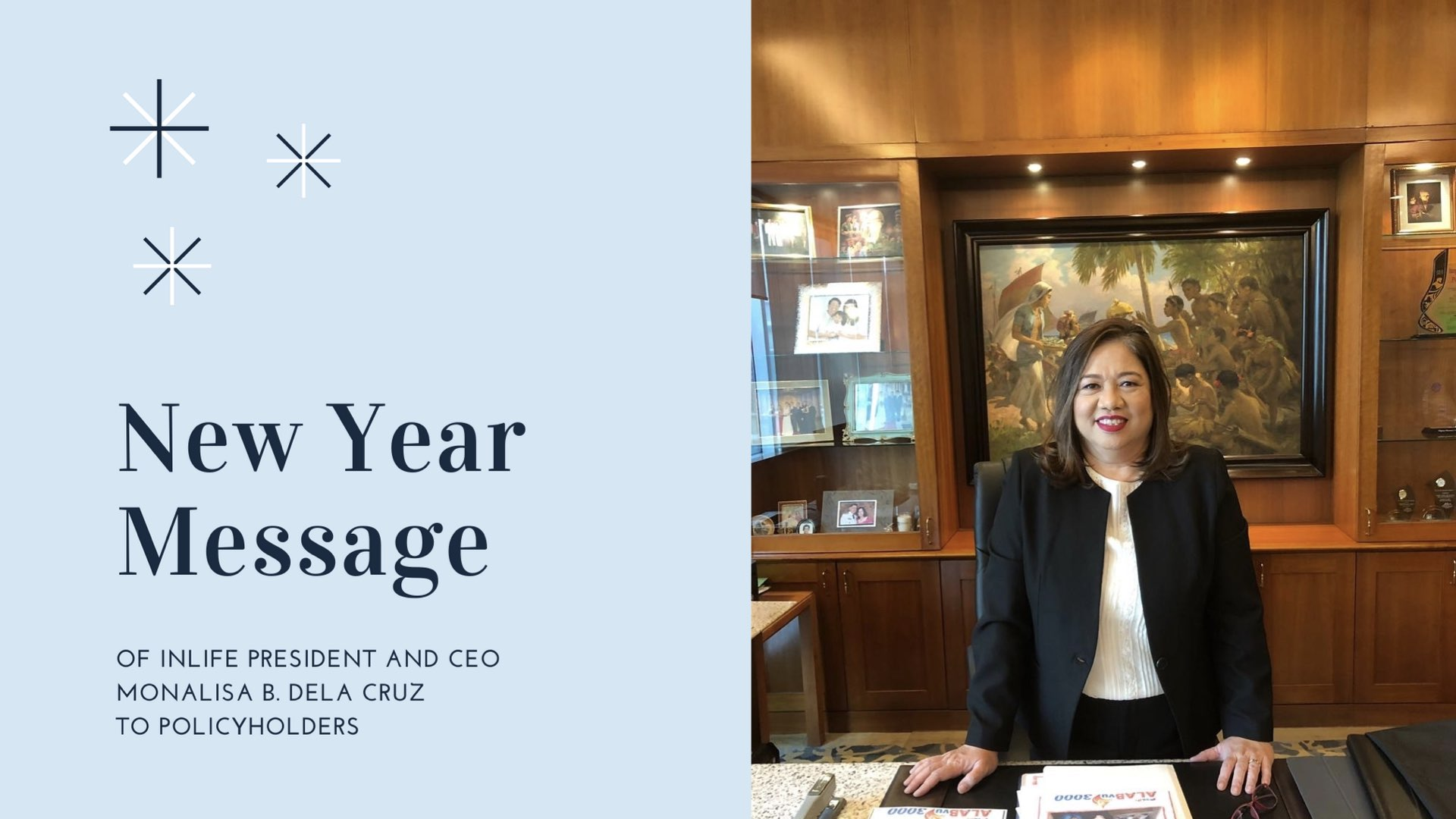 New Year Message of InLife CEO Monalisa B. Dela Cruz to Policyholders
