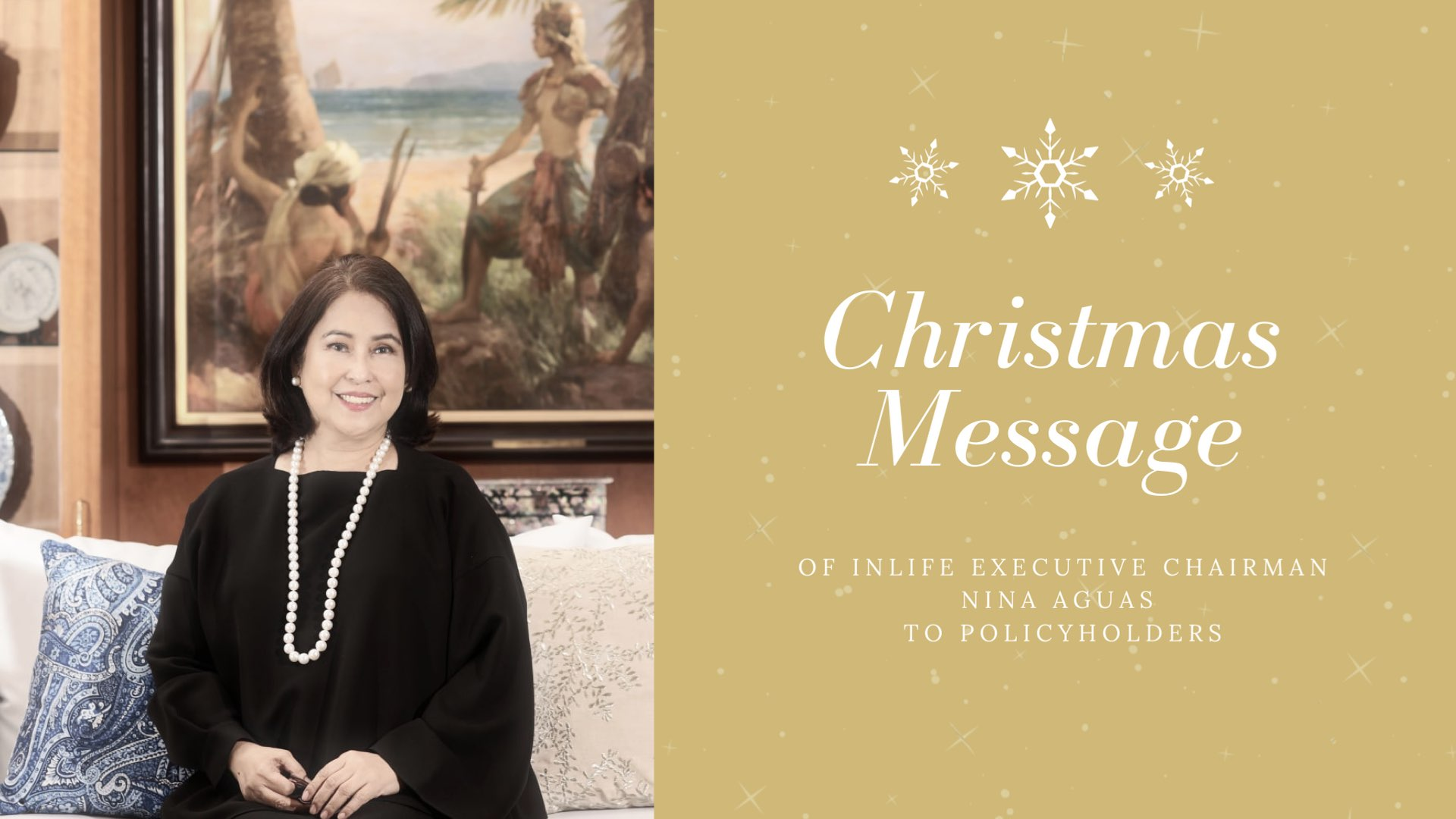 Christmas Message of InLife Executive Chairman Nina D. Aguas to Policyholders