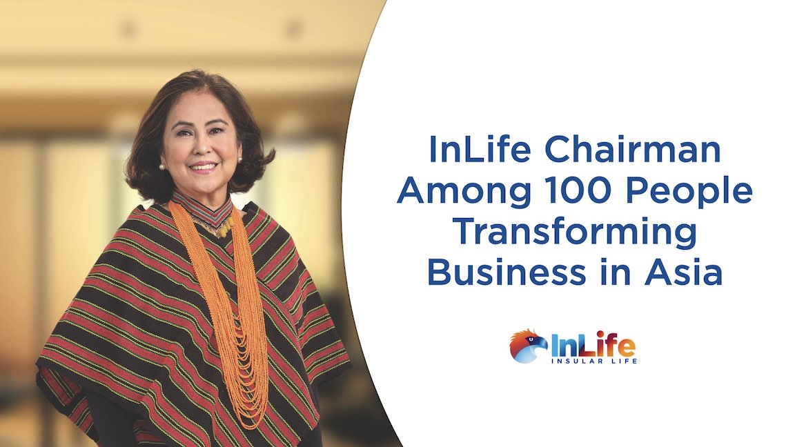 Insular Life Executive Chairman Nina Aguas Recognized As One Of 100 People Transforming Business In Asia