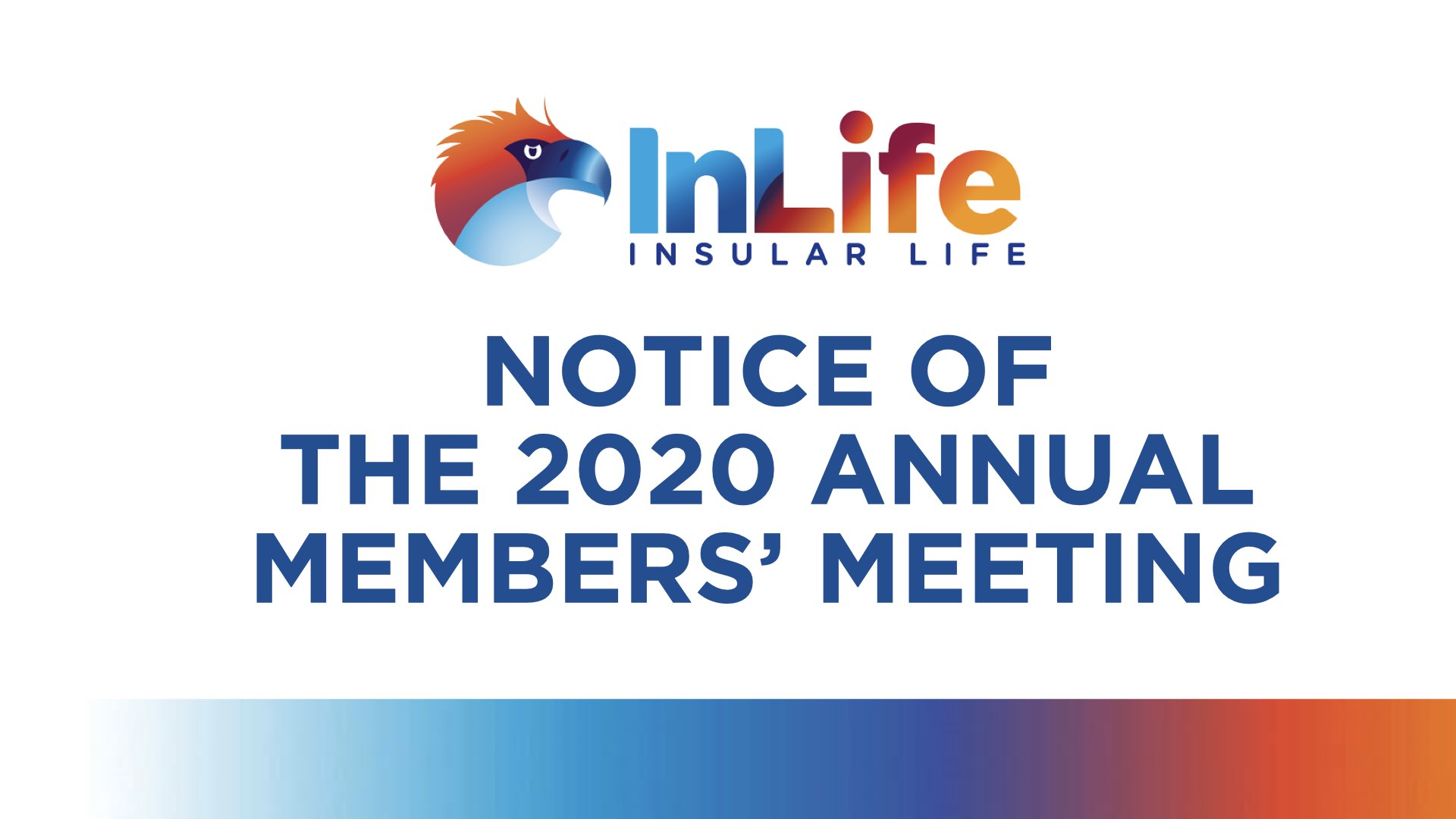 Notice of the 2020 Annual Members' Meeting